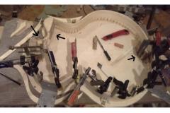 016 Verleimung der Klötze für Cutaway, Saitenhalter, Halsfuß-Block